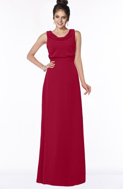 ColsBM Eileen Dark Red Gorgeous A-line Scoop Sleeveless Floor Length Bridesmaid Dresses