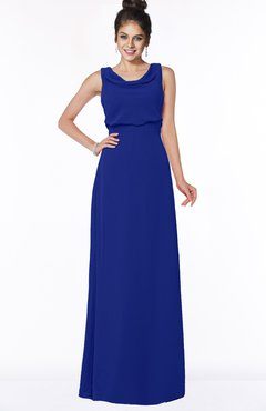 ColsBM Eileen Electric Blue Gorgeous A-line Scoop Sleeveless Floor Length Bridesmaid Dresses