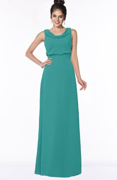 ColsBM Eileen Emerald Green Gorgeous A-line Scoop Sleeveless Floor Length Bridesmaid Dresses