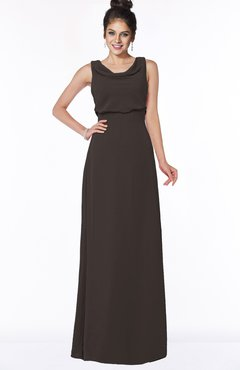 ColsBM Eileen Fudge Brown Gorgeous A-line Scoop Sleeveless Floor Length Bridesmaid Dresses