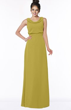 ColsBM Eileen Golden Olive Gorgeous A-line Scoop Sleeveless Floor Length Bridesmaid Dresses