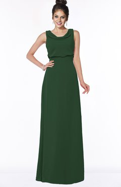 ColsBM Eileen Hunter Green Gorgeous A-line Scoop Sleeveless Floor Length Bridesmaid Dresses