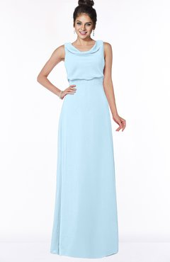 ColsBM Eileen Ice Blue Gorgeous A-line Scoop Sleeveless Floor Length Bridesmaid Dresses
