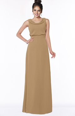ColsBM Eileen Indian Tan Gorgeous A-line Scoop Sleeveless Floor Length Bridesmaid Dresses
