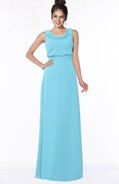 ColsBM Eileen Light Blue Gorgeous A-line Scoop Sleeveless Floor Length Bridesmaid Dresses