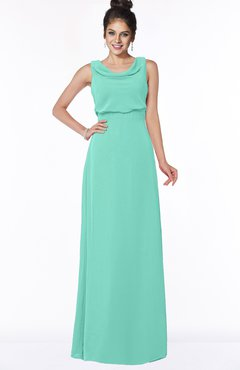 ColsBM Eileen Mint Green Gorgeous A-line Scoop Sleeveless Floor Length Bridesmaid Dresses
