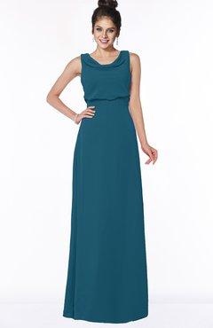 ColsBM Eileen Moroccan Blue Gorgeous A-line Scoop Sleeveless Floor Length Bridesmaid Dresses