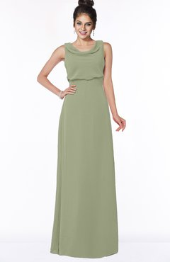 ColsBM Eileen Moss Green Gorgeous A-line Scoop Sleeveless Floor Length Bridesmaid Dresses