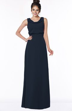 ColsBM Eileen Navy Blue Gorgeous A-line Scoop Sleeveless Floor Length Bridesmaid Dresses