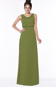 ColsBM Eileen Olive Green Gorgeous A-line Scoop Sleeveless Floor Length Bridesmaid Dresses