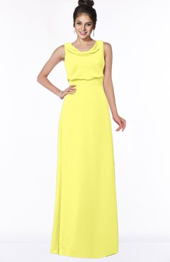 ColsBM Eileen Pale Yellow Gorgeous A-line Scoop Sleeveless Floor Length Bridesmaid Dresses