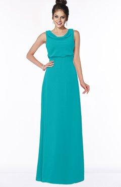 ColsBM Eileen Peacock Blue Gorgeous A-line Scoop Sleeveless Floor Length Bridesmaid Dresses