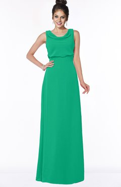 ColsBM Eileen Pepper Green Gorgeous A-line Scoop Sleeveless Floor Length Bridesmaid Dresses
