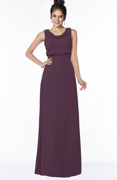 ColsBM Eileen Blackberry Cordial Gorgeous A-line Scoop Sleeveless Floor Length Bridesmaid Dresses
