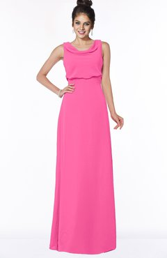 ColsBM Eileen Rose Pink Gorgeous A-line Scoop Sleeveless Floor Length Bridesmaid Dresses