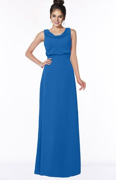 ColsBM Eileen Royal Blue Gorgeous A-line Scoop Sleeveless Floor Length Bridesmaid Dresses