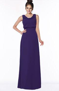 ColsBM Eileen Royal Purple Gorgeous A-line Scoop Sleeveless Floor Length Bridesmaid Dresses