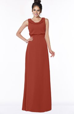 ColsBM Eileen Rust Gorgeous A-line Scoop Sleeveless Floor Length Bridesmaid Dresses