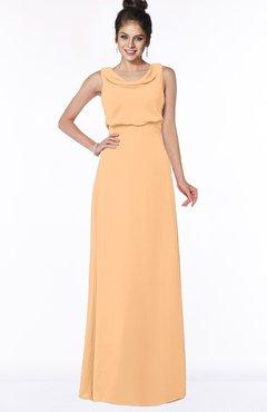 ColsBM Eileen Salmon Buff Gorgeous A-line Scoop Sleeveless Floor Length Bridesmaid Dresses