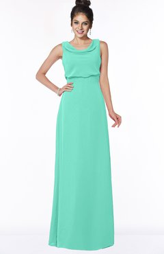 ColsBM Eileen Seafoam Green Gorgeous A-line Scoop Sleeveless Floor Length Bridesmaid Dresses