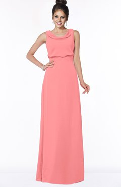 ColsBM Eileen Shell Pink Gorgeous A-line Scoop Sleeveless Floor Length Bridesmaid Dresses