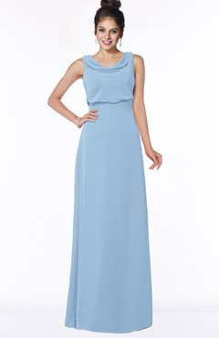 ColsBM Eileen Sky Blue Gorgeous A-line Scoop Sleeveless Floor Length Bridesmaid Dresses