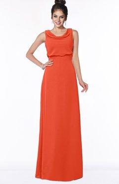 ColsBM Eileen Tangerine Tango Gorgeous A-line Scoop Sleeveless Floor Length Bridesmaid Dresses