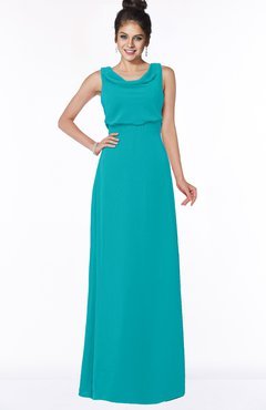 ColsBM Eileen Teal Gorgeous A-line Scoop Sleeveless Floor Length Bridesmaid Dresses