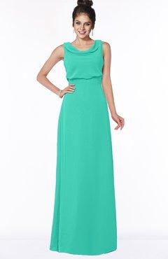 ColsBM Eileen Viridian Green Gorgeous A-line Scoop Sleeveless Floor Length Bridesmaid Dresses
