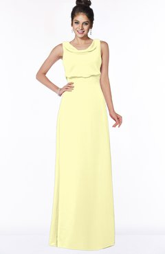 ColsBM Eileen Wax Yellow Gorgeous A-line Scoop Sleeveless Floor Length Bridesmaid Dresses