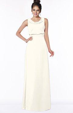 ColsBM Eileen Whisper White Gorgeous A-line Scoop Sleeveless Floor Length Bridesmaid Dresses