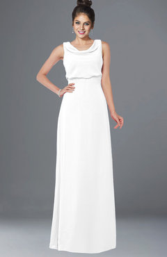 ColsBM Eileen White Gorgeous A-line Scoop Sleeveless Floor Length Bridesmaid Dresses
