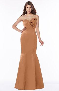 ColsBM Linda Amber Glamorous Fishtail Sweetheart Half Backless Satin Flower Bridesmaid Dresses