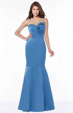 ColsBM Linda Campanula Glamorous Fishtail Sweetheart Half Backless Satin Flower Bridesmaid Dresses