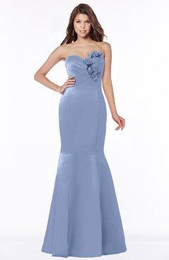 ColsBM Linda Freesia Glamorous Fishtail Sweetheart Half Backless Satin Flower Bridesmaid Dresses