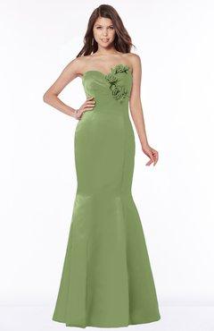 ColsBM Linda Gleam Glamorous Fishtail Sweetheart Half Backless Satin Flower Bridesmaid Dresses