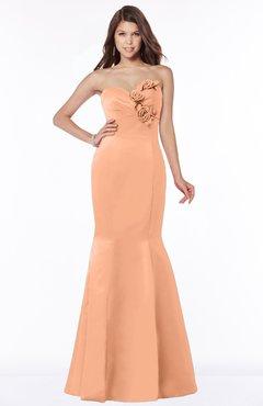 ColsBM Linda Salmon Glamorous Fishtail Sweetheart Half Backless Satin Flower Bridesmaid Dresses