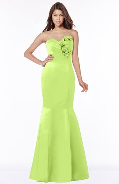 ColsBM Linda Sharp Green Glamorous Fishtail Sweetheart Half Backless Satin Flower Bridesmaid Dresses