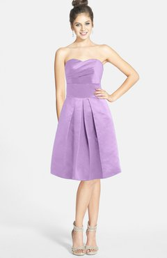 52f86201d52 ColsBM Jessie Begonia Glamorous Strapless Sleeveless Zip up Satin Knee  Length Bridesmaid Dresses