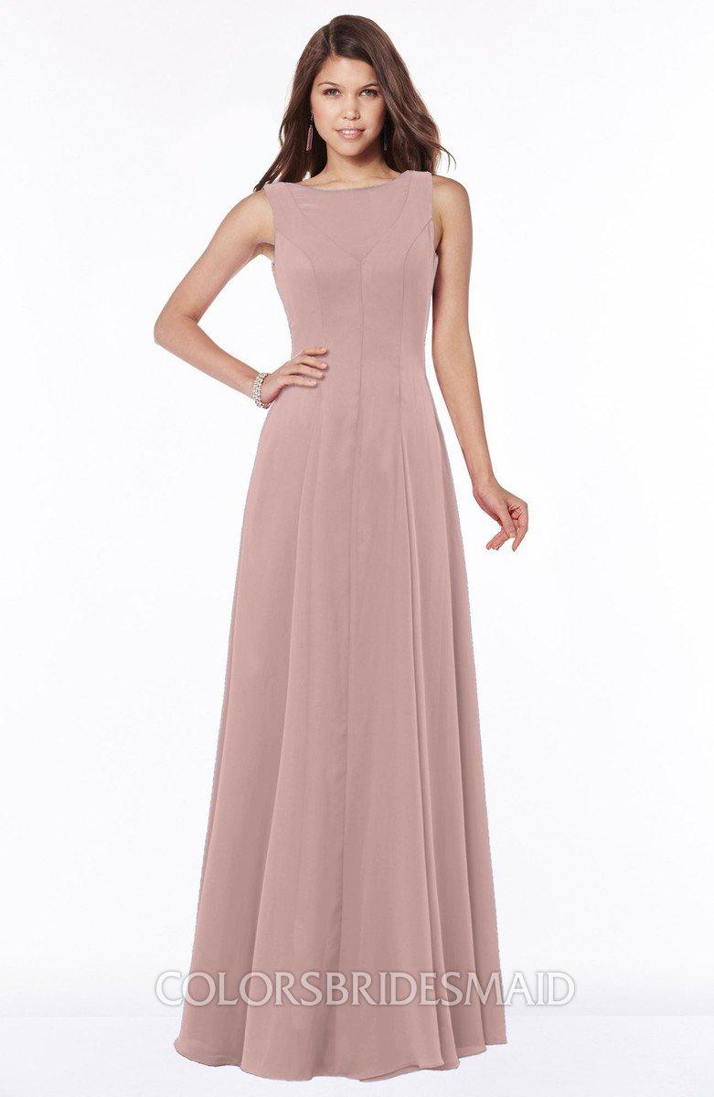 8d14893fd7b Modest Pink Bridesmaid Dresses
