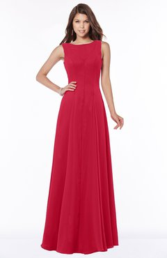 ColsBM Anika Lollipop Modest A-line Scoop Sleeveless Zip up Chiffon Bridesmaid Dresses