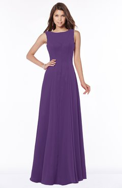 ColsBM Anika Pansy Modest A-line Scoop Sleeveless Zip up Chiffon Bridesmaid Dresses