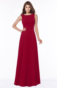ColsBM Anika Scooter Modest A-line Scoop Sleeveless Zip up Chiffon Bridesmaid Dresses