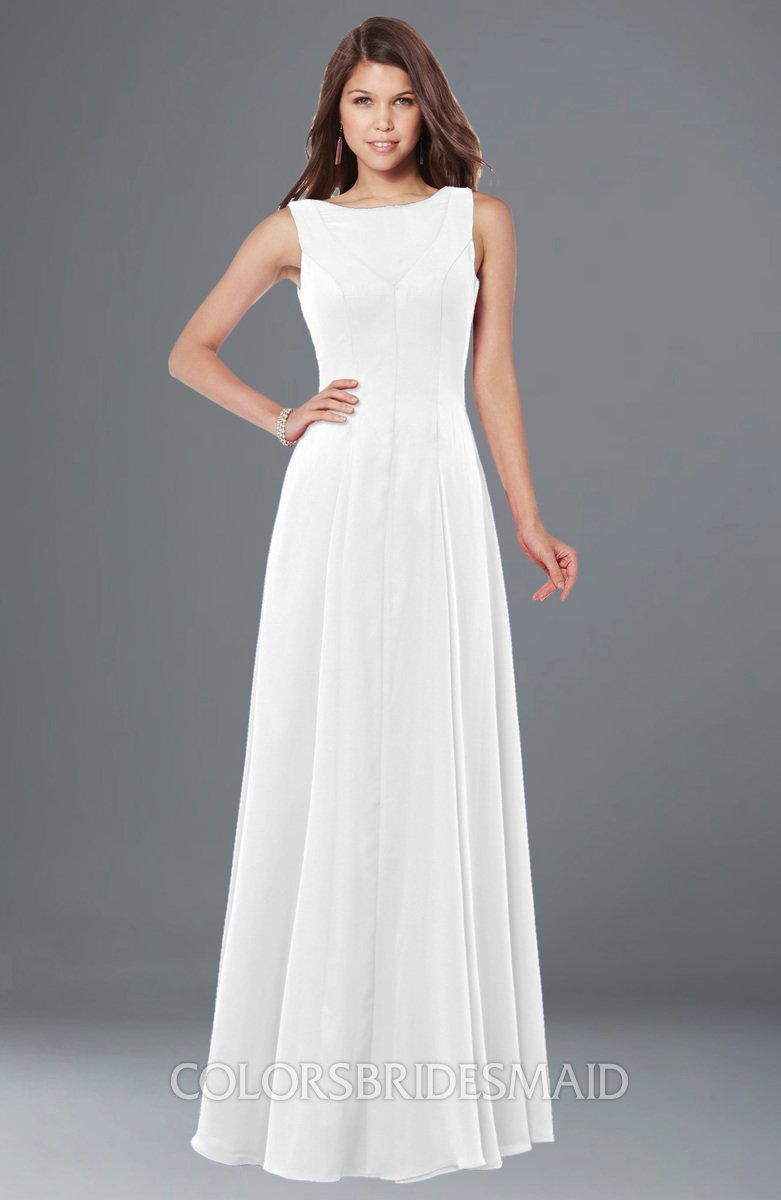Chiffon White Bridesmaid Dresses
