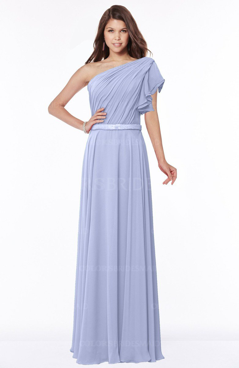 822d56a257fd ColsBM Alexia Lavender Modest A-line Zip up Chiffon Floor Length Ruching  Bridesmaid Dresses
