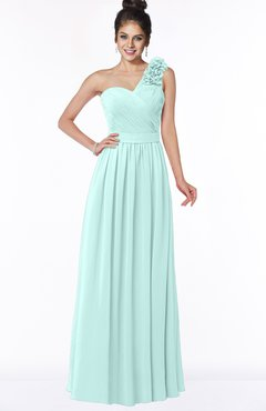 ColsBM Elisa Blue Glass Simple A-line One Shoulder Half Backless Chiffon Flower Bridesmaid Dresses