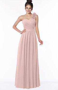 ColsBM Elisa Dusty Rose Simple A-line One Shoulder Half Backless Chiffon Flower Bridesmaid Dresses