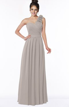 ColsBM Elisa Fawn Simple A-line One Shoulder Half Backless Chiffon Flower Bridesmaid Dresses