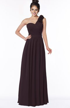ColsBM Elisa Italian Plum Simple A-line One Shoulder Half Backless Chiffon Flower Bridesmaid Dresses