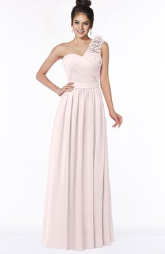 ColsBM Elisa Light Pink Simple A-line One Shoulder Half Backless Chiffon Flower Bridesmaid Dresses
